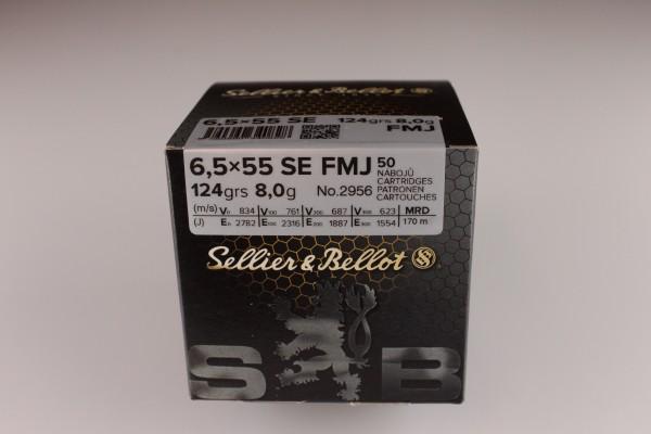 S&B 6,5x55 FMJ 124 GRS 50 Stück