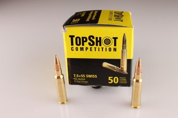 Top Shot 7,5x55 Swiss FMJ 174 GRS 50 Stück