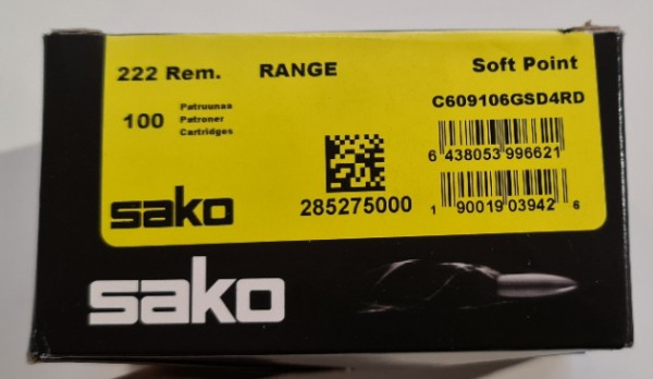 Sako Gamehead .222 3,2g/50grs 100 St/Pk