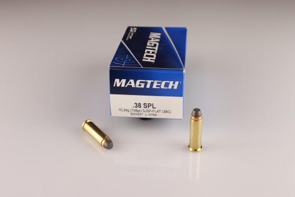 Magtech .38 SPL SJSP-Flat 158 GRS 38C