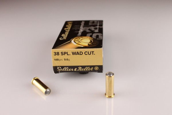 S&B .38 Spec. Wadcutter 9,6g/148GRS