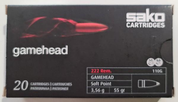 Sako Gamehead SP .222 3,56/55grs 20 St/Pk